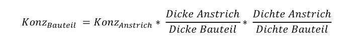 Formel aufs Bauteil rechnen