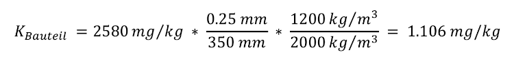 Formel aufs Bauteil rechnen - Beispiel