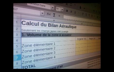 Bilan aérolique - screenshot